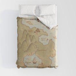 Map of Neverland Duvet Cover