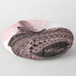 Paris Pink Eiffel Tower Floor Pillow