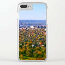 La Crosse from the bluff; Wisconsin Clear iPhone Case