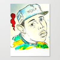 tyler the creator Canvas Prints featuring Tyler the Creator by JDowicz