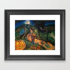 At the stroke of Halloween Framed Art Print