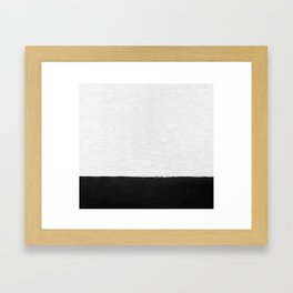 Painted Wall - Black on White Framed Art Print