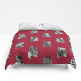 Bama crimson tide college state pattern print university of alabama varsity alumni gifts Comforters