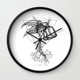 Fluer Morte Wall Clock