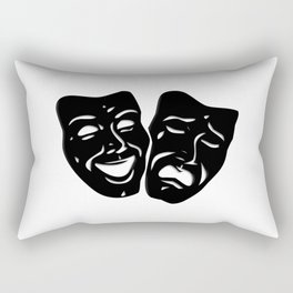 Theater Masks of Comedy and Tragedy Rectangular Pillow