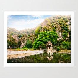 Bich Dong Pagoda in Vietnam Fine Art Print  • Travel Photography • Wall Art Art Print