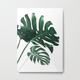 Tropical Monstera Finesse #1 #minimal #decor #art #society6 Metal Print