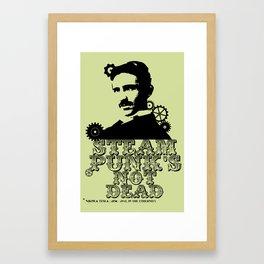 Nikola Tesla was a punk Framed Art Print