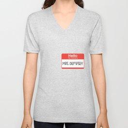 Hello my name is Mrs. Dempsey Unisex V-Neck
