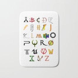 The Alphabet of geekdom Bath Mat