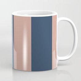 5th Avenue Stripe No. 1 in Smoked Salmon and Midnight Blue Coffee Mug