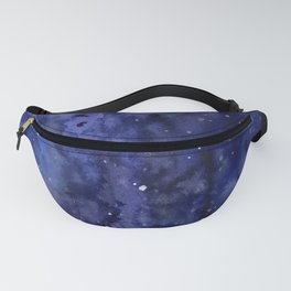 Night Sky Galaxy Nebula Stars Watercolor Space Texture Fanny Pack