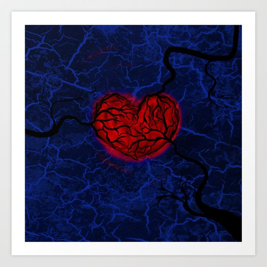 Overgrown Heart Art Print
