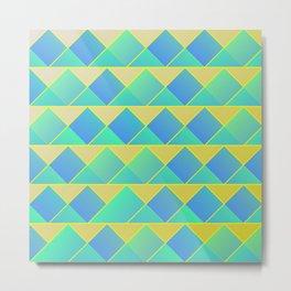 Geometric springtime colors Metal Print