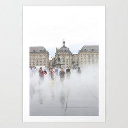 Misty Bordeaux Art Print