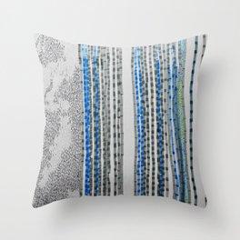 rain in the bamboo grove - night Throw Pillow