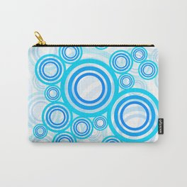 Blue circles of the 70s Carry-All Pouch