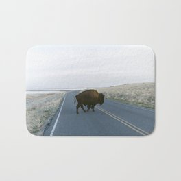 American Bison in The Road Bath Mat