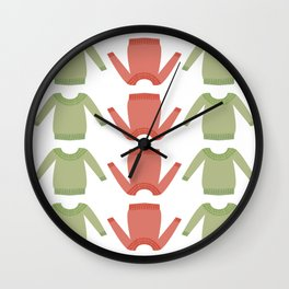 Sweater Weather: Holly Jolly Wall Clock