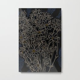 Daisy Chrysanthemum,  black Metal Print