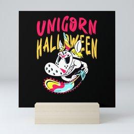 Halloween Unicorn Costume Mini Art Print