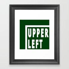 Upperleft Green Framed Art Print