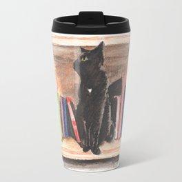 Cat on the Shelf Travel Mug