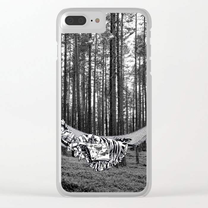 BETWEEN TREES Clear iPhone Case