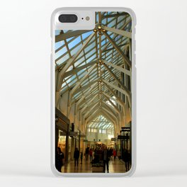 Upscale Shopping Clear iPhone Case
