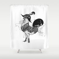 pirate Shower Curtains featuring Pirate by Sarinya  Withaya