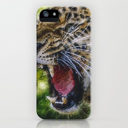 Poster Leopard Painting iPhone Case