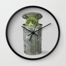 Grouchy Cat  Wall Clock