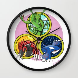 Weather Trio Wall Clock