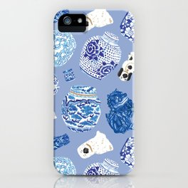 Chinoiserie Curiosity Cabinet Toss 7 iPhone Case
