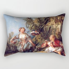 Lovers in a Park - Francois Boucher Rectangular Pillow