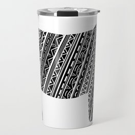Mandala Heifer Cow Silhouette Travel Mug