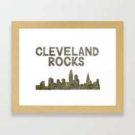 Cleveland Rocks Framed Art Print