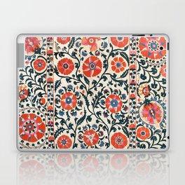 Shakhrisyabz Suzani  Uzbekistan Antique Floral Embroidery Print Laptop & iPad Skin