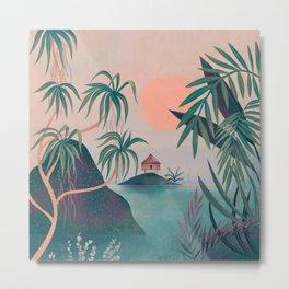 Paradise Cottage Metal Print