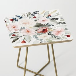 Loose Watercolor Bouquet Side Table