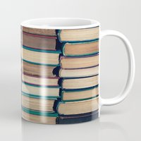 bookworm Mugs featuring Bookworm by Laura Ruth
