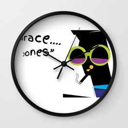 """Grace....Grace Jones"" Wall Clock"
