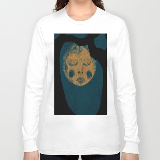 Moon With The Blues Long Sleeve T-shirt