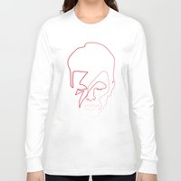 quibe Long Sleeve T-shirts featuring One line Aladdin Sane by quibe