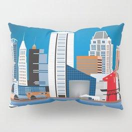 Baltimore, Maryland - Skyline Illustration by Loose Petals Pillow Sham