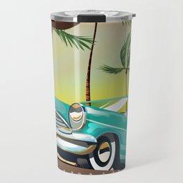 Miami, Florida, USA retro travel poster Travel Mug