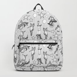 foxy circus black white Backpack