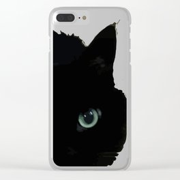 Ink Cat Clear iPhone Case