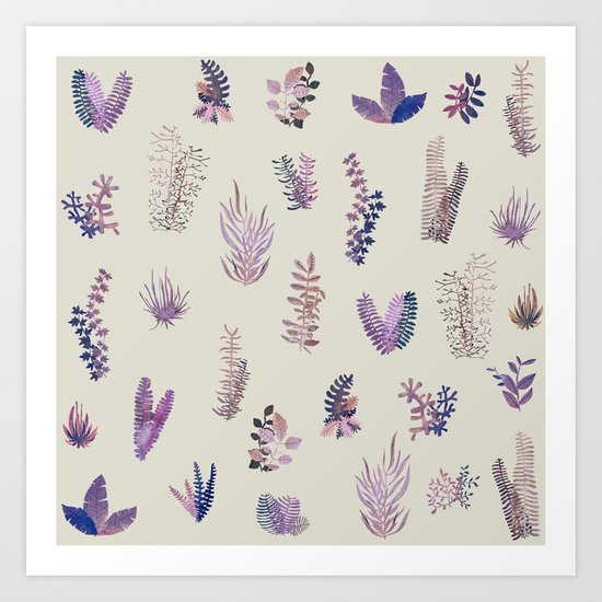 pink garden at day Art Print