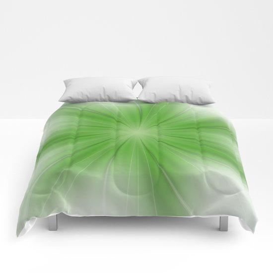 Life Begins Fractal Comforters